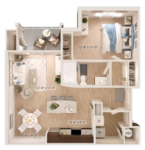 Floor Plan  Amethyst Floor Plan at Sapphire Apartments