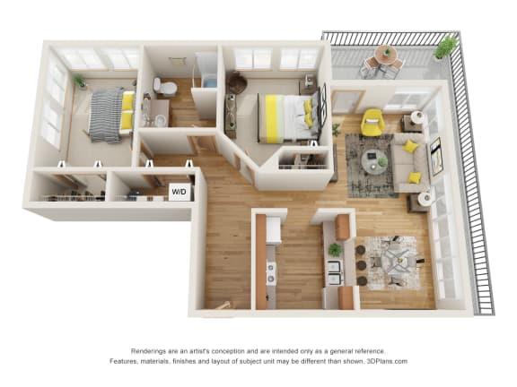 Floor Plan  Fairview Village | Fairview Parkway 2x1