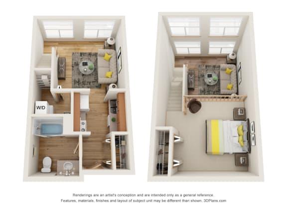 Floor Plan  Fairview Village | Market Drive 1x1