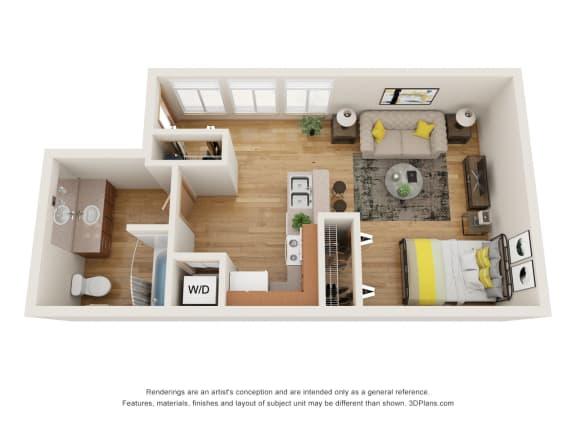 Floor Plan  Fairview Village | Park Lane Studio