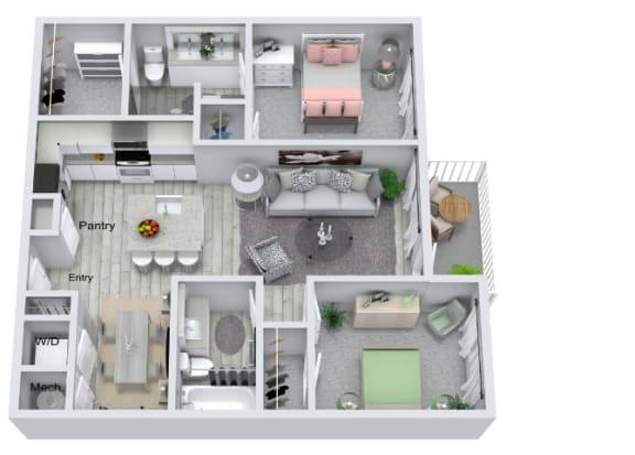 Floor Plan  B1 Floor Plan at Estero Parc, Florida