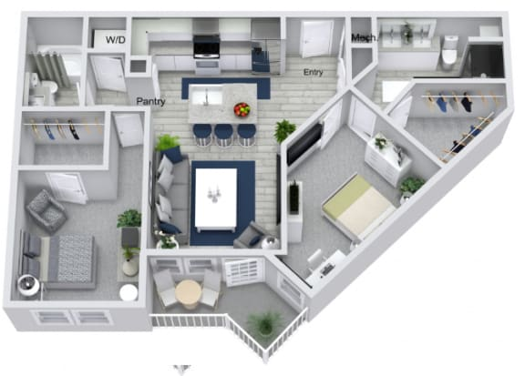 Floor Plan  B2 Floor Plan at Estero Parc, Florida, 33928