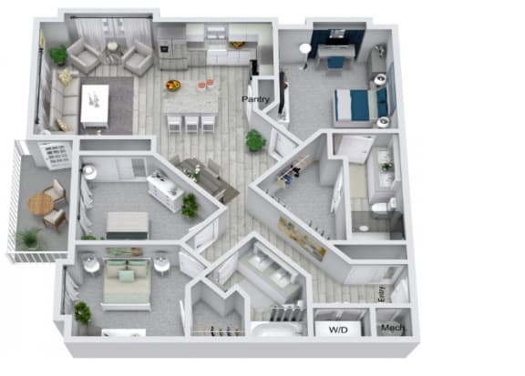 Floor Plan  C1 Floor Plan at Estero Parc, Estero, FL
