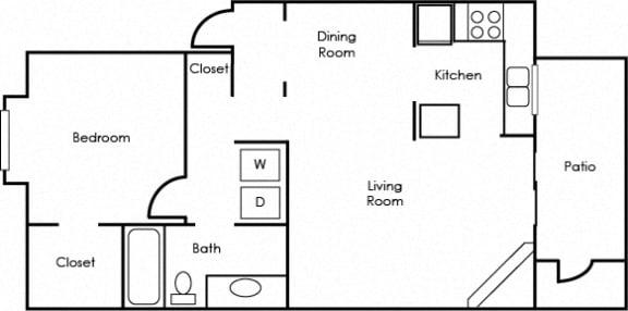 Floor Plan  Northtowne Summit Apartments A1 Floor Plan