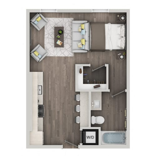 Floor Plan  Studio Floor Plan nVe at Fairfax apartments