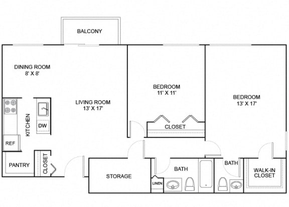 Floor Plan  cherrywood 2x1.5 1026 SF