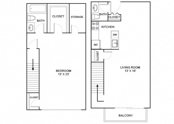 Floor Plan  Heron 1X1_5 1029
