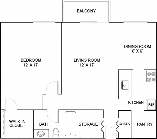 Floor Plan  Hummingbird 1X1 583