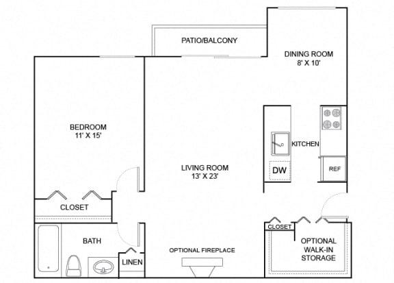 Floor Plan  Robin 1X1 732
