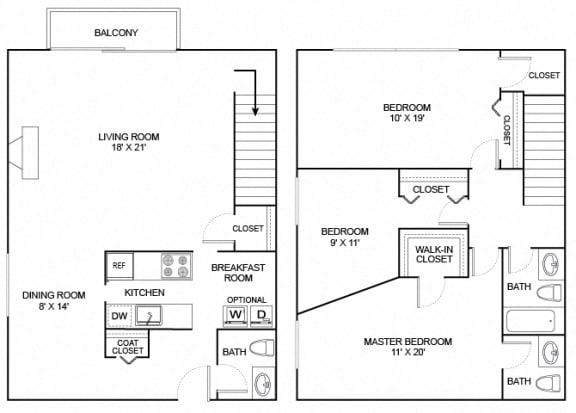 Floor Plan  Valley 3X2 1616