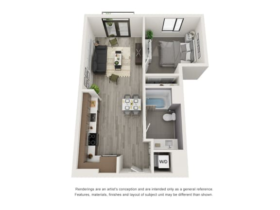 Floor Plan  4th and J A7