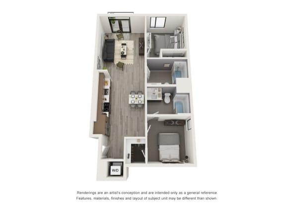 Floor Plan  4th and J B1