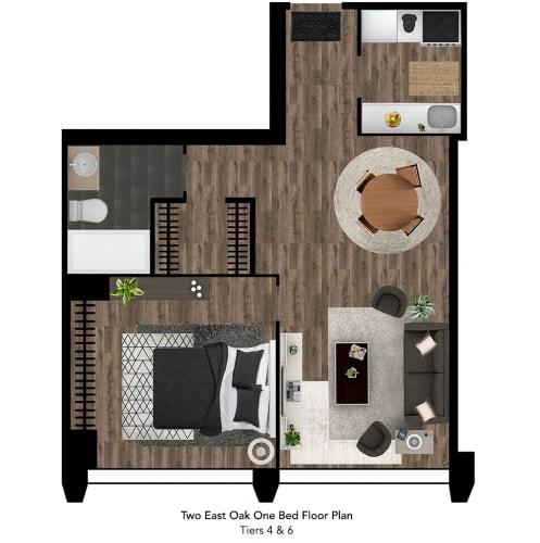 Floor Plan  Two East Oak Floor Plan Tier 4-6