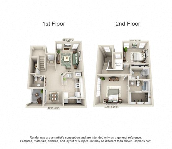 Floor Plan  Boulder Springs 2_2.5 floorplan