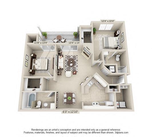 Floor Plan  Boulder Springs 2_2 floorplan
