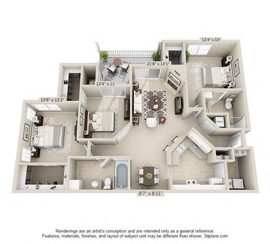 Floor Plan  Boulder Springs 3_2 floorplan