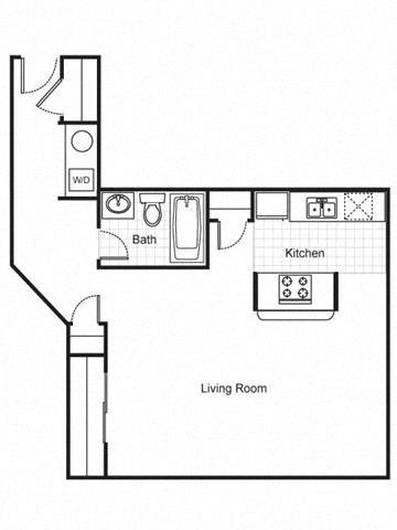 Floor Plan  Studio apartment 2D Floorplan-The Brewery Apartments, St. Louis, MO