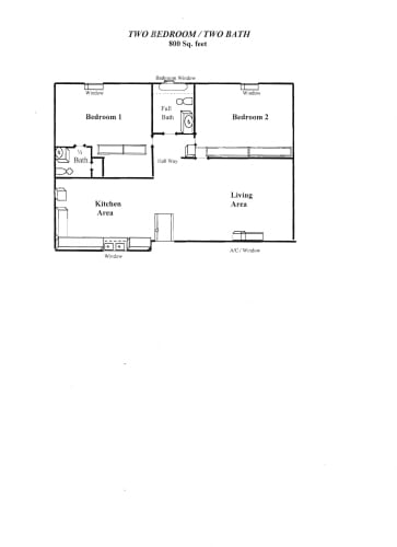 Floor Plan  2 Bedroom A