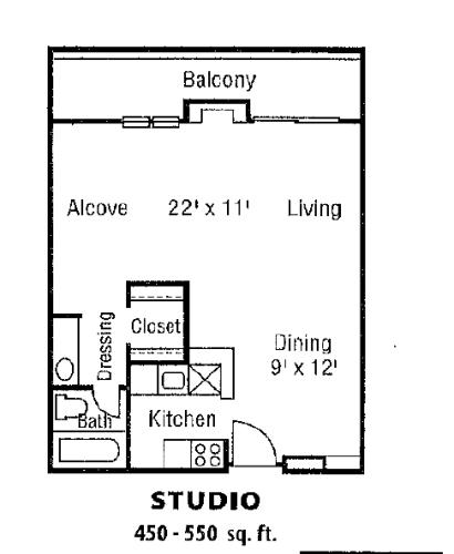 Floor Plan  Studio B