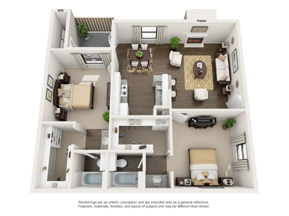 Floor Plan  2 Bedroom B