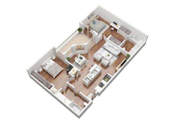 Floor Plan  2 Bedroom Apartment Home