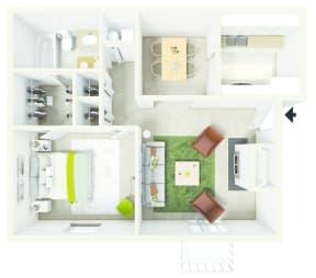 Floor Plan  1 Bed 1 Bath Floor Plan at Verandas at Rocky Ridge, Birmingham, AL
