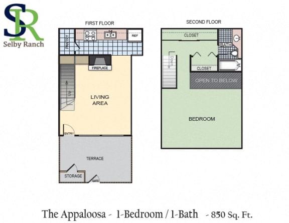 Floor Plan  The Appaloosa