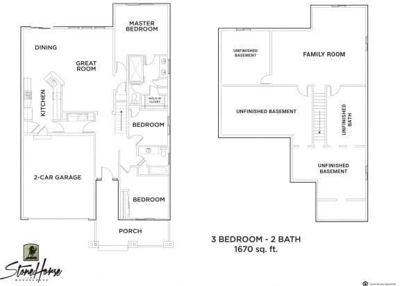 Floor Plan  3-Bed 2-Bath