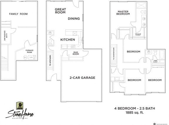 Floor Plan  4-Bed 2.5-Bath