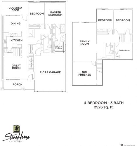 Floor Plan  4-Bed 3-Bath