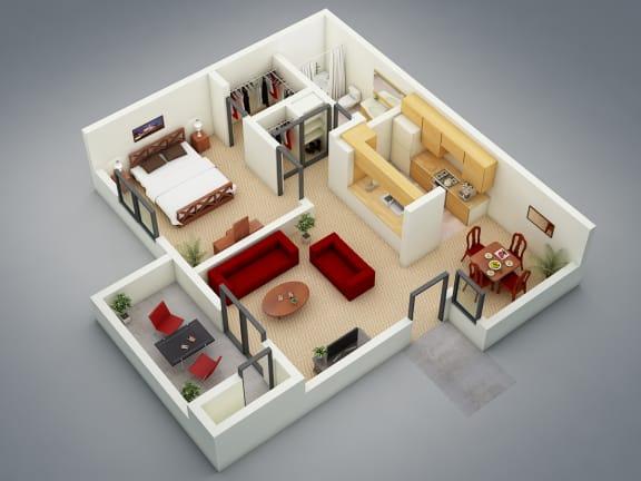 Floor Plan  The Refuge Floor Plan at Mission Sierra Apartments, Union City, CA, 94587
