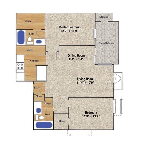 Floor Plan  Timberglen