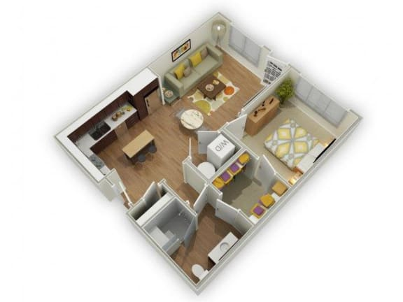 Floor Plan  Capstone at Vallagio_Englewood CO_Floor Plan_One Bedroom One Bathroom A2
