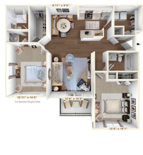 Floor Plan  Roanoke_Grand Floor Plan at Sunscape Apartments, Roanoke