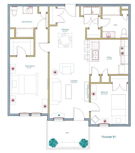 Floor Plan  2 Bedroom Floorplan Layout at Ashland Woods