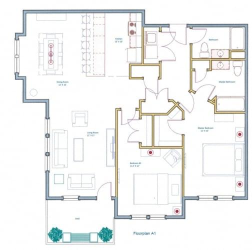 Floor Plan  Open Style Kitchen Floorplan at Ashland Woods