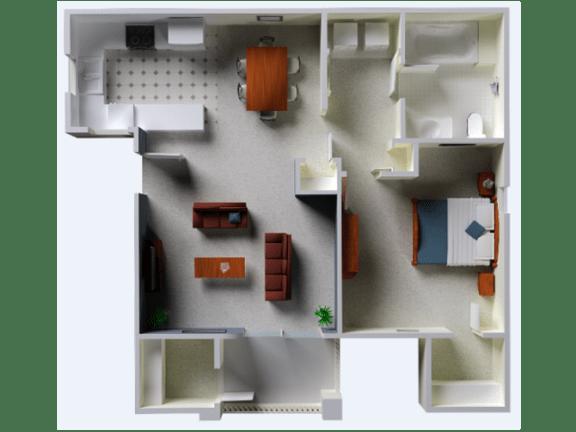 Floor Plan  The Riesling floor plan l Vineyard Gate Apartments in Roseville CA