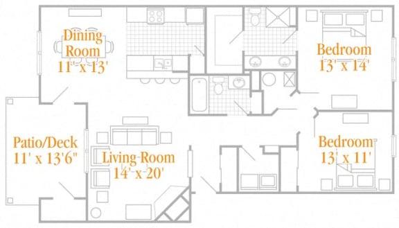 Floor Plan  The Heather