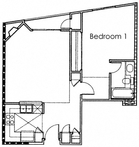 Floor Plan  1BR 1BA - FLOOR PLAN A - 10930 ASHTON