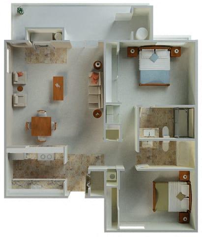 Floor Plan  Palamino Corner 1042 sqft floor plan