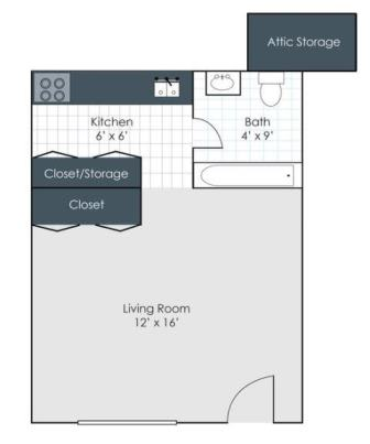 Floor Plan  Studio floorplan image