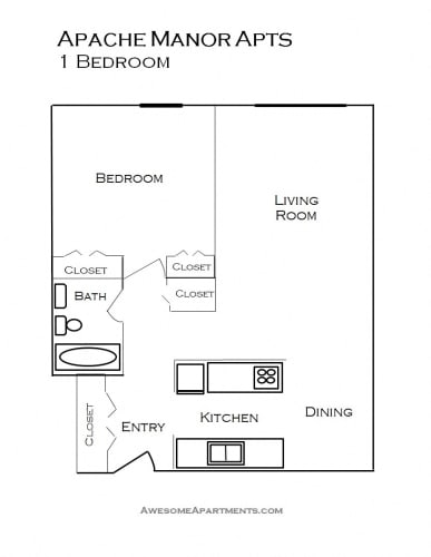 Floor Plan  Apache Manor Apartments in St Anthony