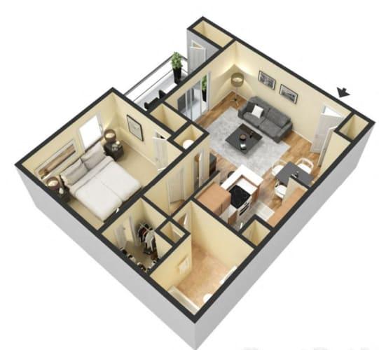 Floor Plan  1 Bed 1 Bath Floor Plan at Ascent Citrus Park, Florida, 33615