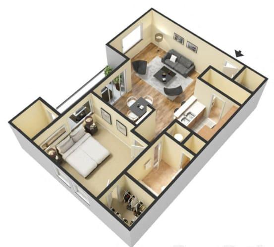 Floor Plan  Tangelo 1 Bed 1 Bath Floor Plan at Ascent Citrus Park, Tampa, FL, 33615