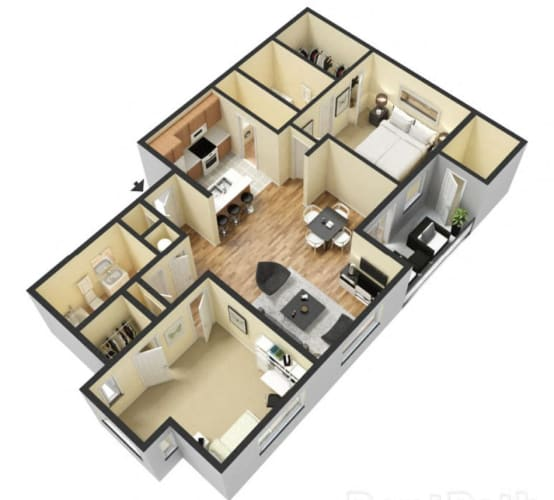 Floor Plan  2 Bed 2 Bath Floor Plan at Ascent Citrus Park, Tampa, FL