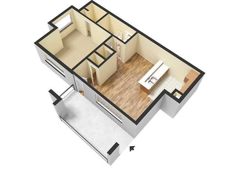 Floor Plan  1 Bed 1 Bath Floor Plan at Ascent Pineville, North Carolina, 28226