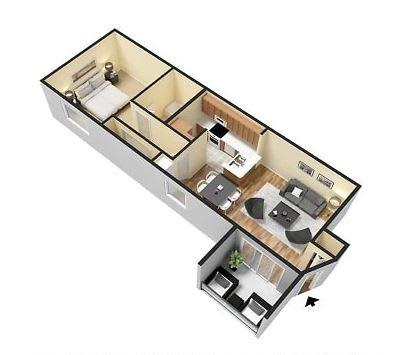 Floor Plan  1 Bedroom 1 Bathroom Floor Plan at Pine Harbour, Florida