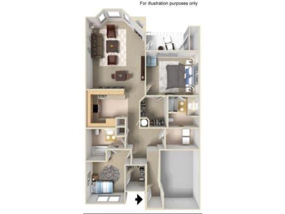 Floor Plan  2x2g