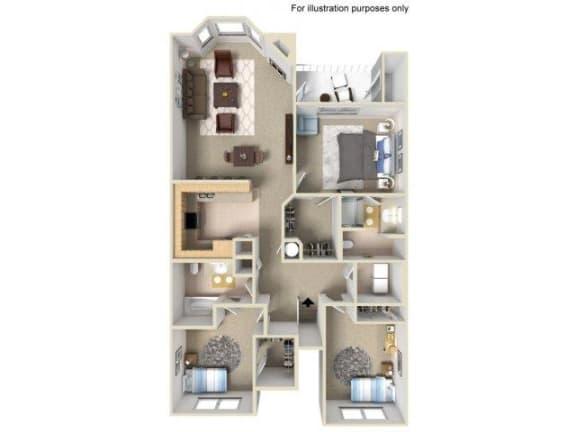 Floor Plan  3x2g