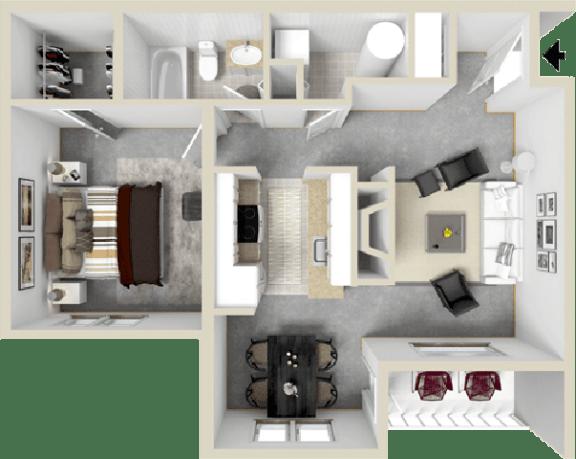 Floor Plan  Cutter_2_Floor Planat Waterman's Crossing Apartments in Newport News, VA